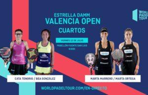 En directo los cuartos de final femeninos del Estrella Damm Valencia Open 2019