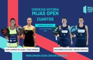 En directo los cuartos de final femeninos del Cervezas Victoria Mijas Open 2019