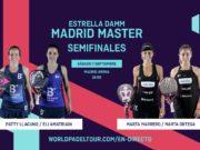 En directo las semifinales de la jornada de tarde del Estrella Damm Madrid Master 2019