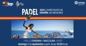 En directo las finales del Campeonato de España Menores Categoría Junior