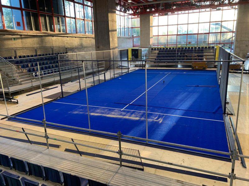Pista 2 del Madrid Master instalada en el Madrid Arena