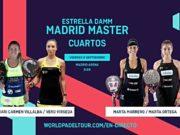 En directo los cuartos de final femeninos del Estrella Damm Madrid Master 2019