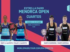 En directo los cuartos de final femeninos del Estrella Damm Menorca Open 2019