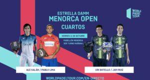 En directo los cuartos de final masculinos del Estrella Damm Menorca Open 2019