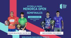 En directo las semifinales de la jornada de tarde del Estrella Damm Menorca Open 2019