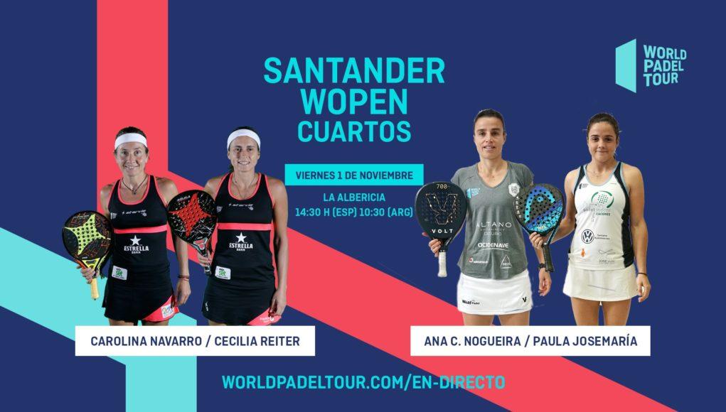 Sigue en directo los cuartos de final del Santander WOpen 2019