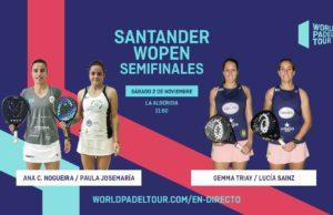Sigue en directo las semifinales del Santander WOpen 2019
