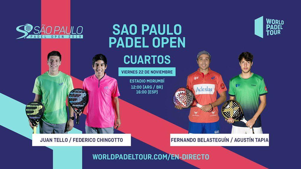 En directo los cuartos de final del Sao Paulo Open
