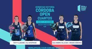 Streaming de los cuartos de final femeninos del Cervezas Victoria Córdoba Open