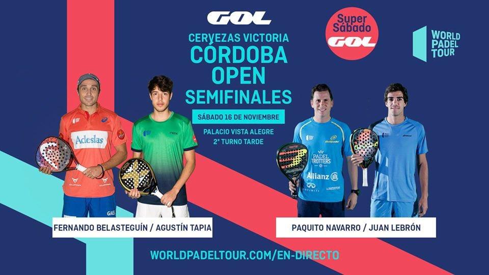 Streaming de las semifinales de la jornada vespertina del Cervezas Victoria Córdoba Open 2019