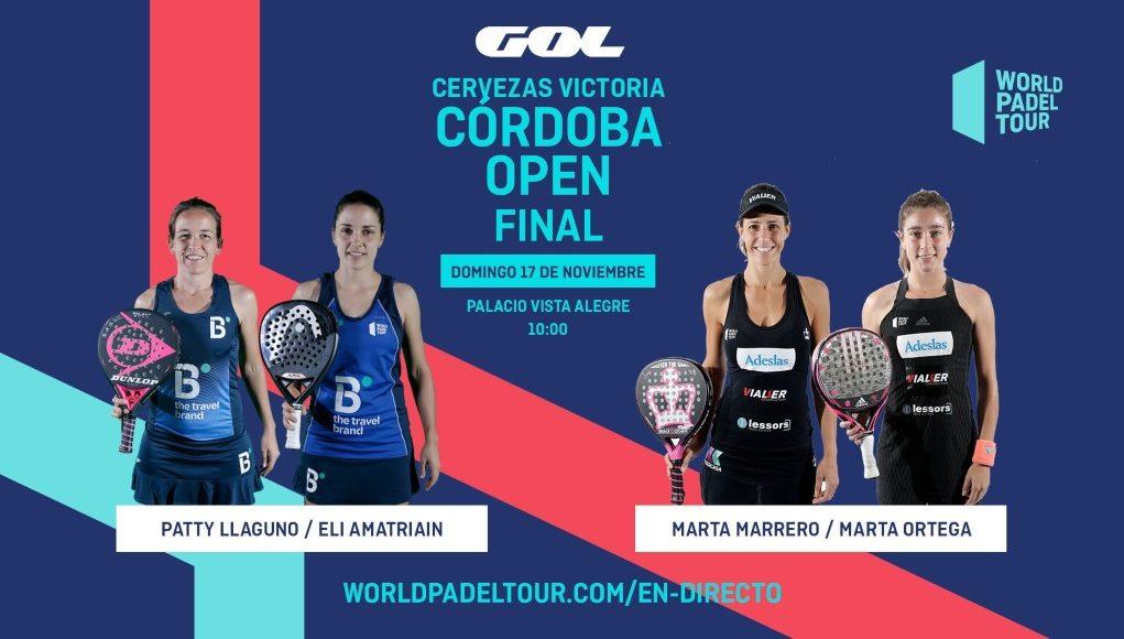En directo las finales del Cervezas Victoria Córdoba Open 2019