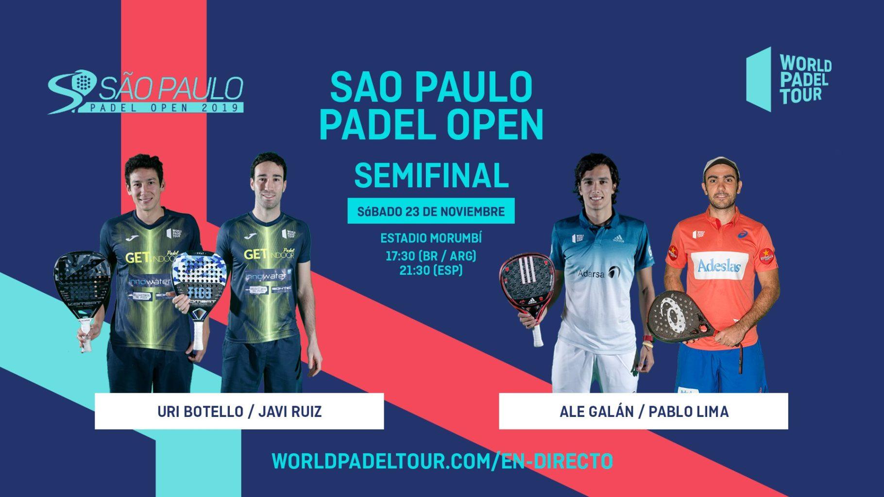 En directo las semifinales del Sao Paulo Open