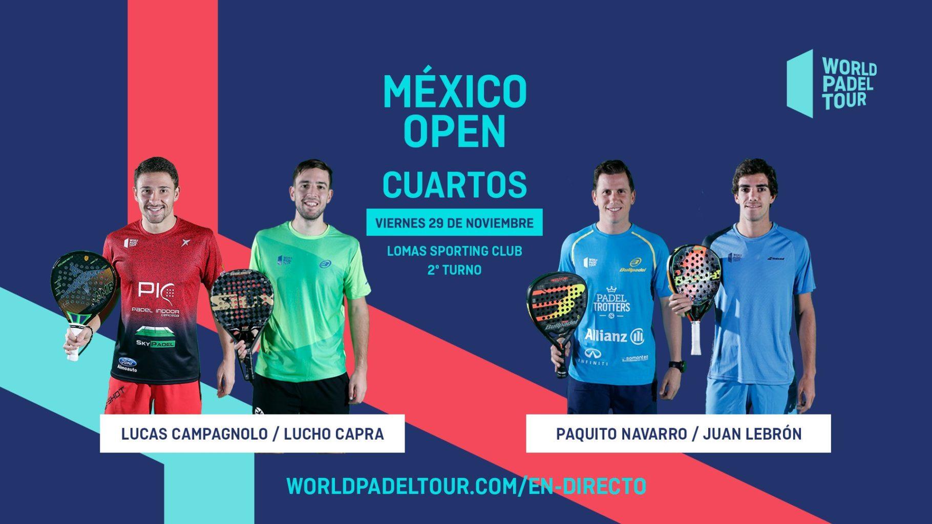 En directo los cuartos de final del México Open