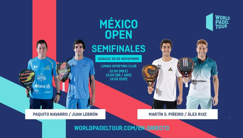 En directo las semifinales del México Open