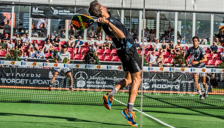 Juan Lebrón en las semifinales del Swedish Padel Open 2019