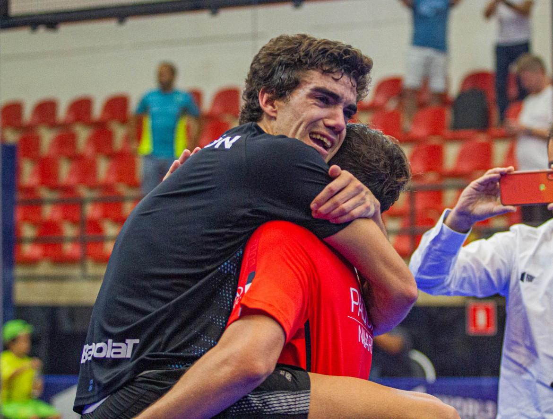 Juan Lebrón en el Sao Paulo Open junto a Paquito Navarro