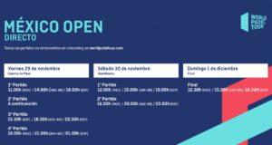 Horarios del streaming del México Open