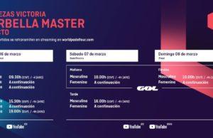 Horarios del streaming del Cervezas Victoria Marbella Master 2020