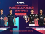 En directo las semifinales del turno de mañana del Cervezas Victoria Marbella Master 2020