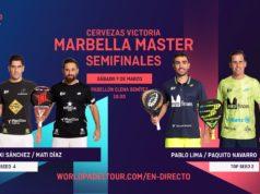 En directo las semifinales del turno de tarde del Cervezas Victoria Marbella Master 2020