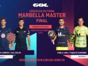En directo las finales del Cervezas Victoria Marbella Master 2020