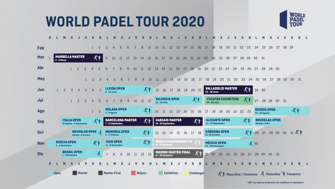 Calendario World Padel Tour 2020