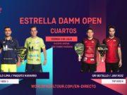 En directo los cuartos de final masculinos del Estrella Damm Open 2020