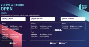 Horarios del streaming del Vuelve A Madrid Open