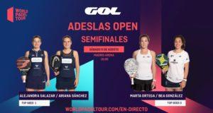 En directo las semifinales del turno de mañana del ADESLAS Open