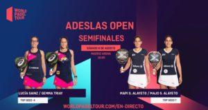En directo las semifinales del turno de tarde del ADESLAS Open