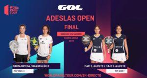 En directo las finales del ADESLAS Open 2020