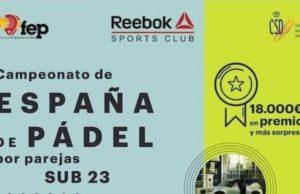 En directo las finales del Campeonato de España de Pádel por Parejas Sub23