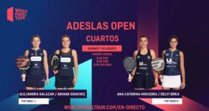 En directo los cuartos de final femeninos del ADESLAS Open 2020