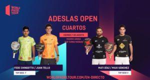 En directo los cuartos de final masculinos del ADESLAS Open 2020
