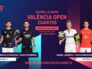 En directo los cuartos de final masculinos del Estrella Damm Valencia Open 2020
