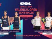 En directo las semifinales del turno de mañana del Estrella Damm Valencia Open 2020