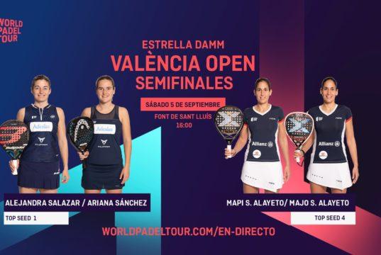 En directo las semifinales del turno de tarde del Estrella Damm Valencia Open 2020
