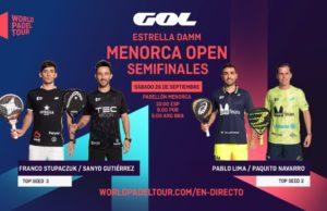 En directo las semifinales del turno de mañana del Estrella Damm Menorca Open 2020