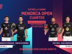 En directo los cuartos de final masculinos del Estrella Damm Menorca Open 2020