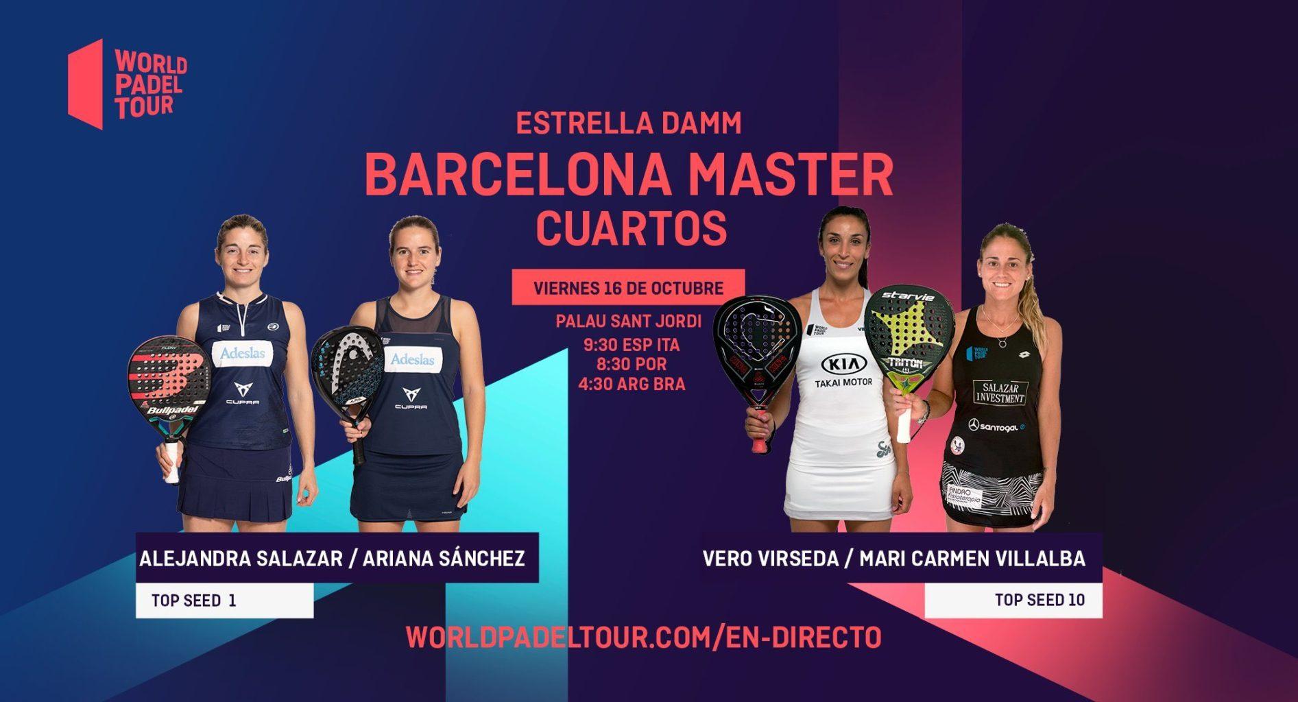 En directo los cuartos de final femeninos del Estrella Damm Barcelona Master 2020