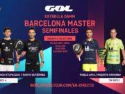En directo las semifinales del turno de mañana del Estrella Damm Barcelona Master 2020