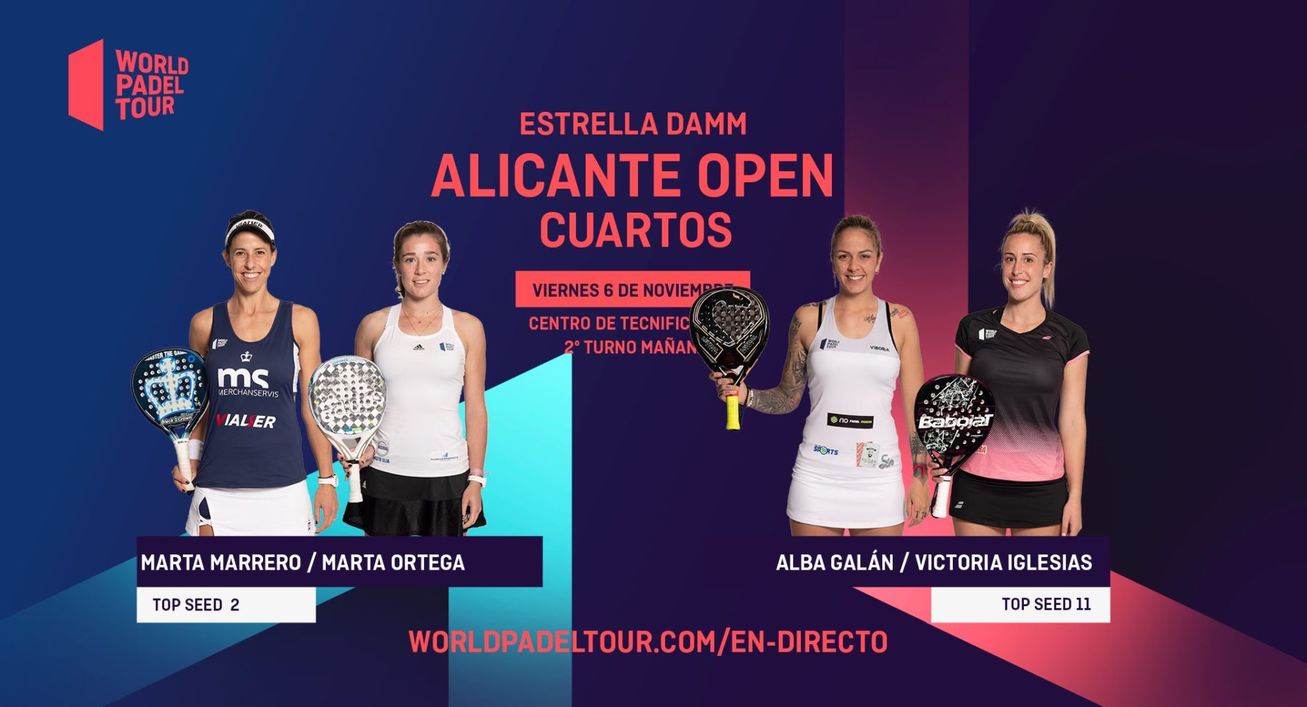 En directo los cuartos de final femeninos del Estrella Damm Alicante Open 2020