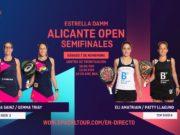 En directo las semifinales del turno de tarde del Estrella Damm Alicante Open 2020