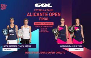 En directo las finales del Estrella Damm Alicante Open 2020