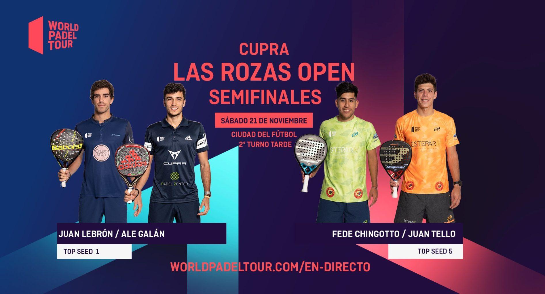 En directo las semifinales del turno de tarde del Cupra Las Rozas Open 2020