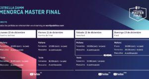 Horarios del streaming del Estrella Damm Menorca Master Final 2020