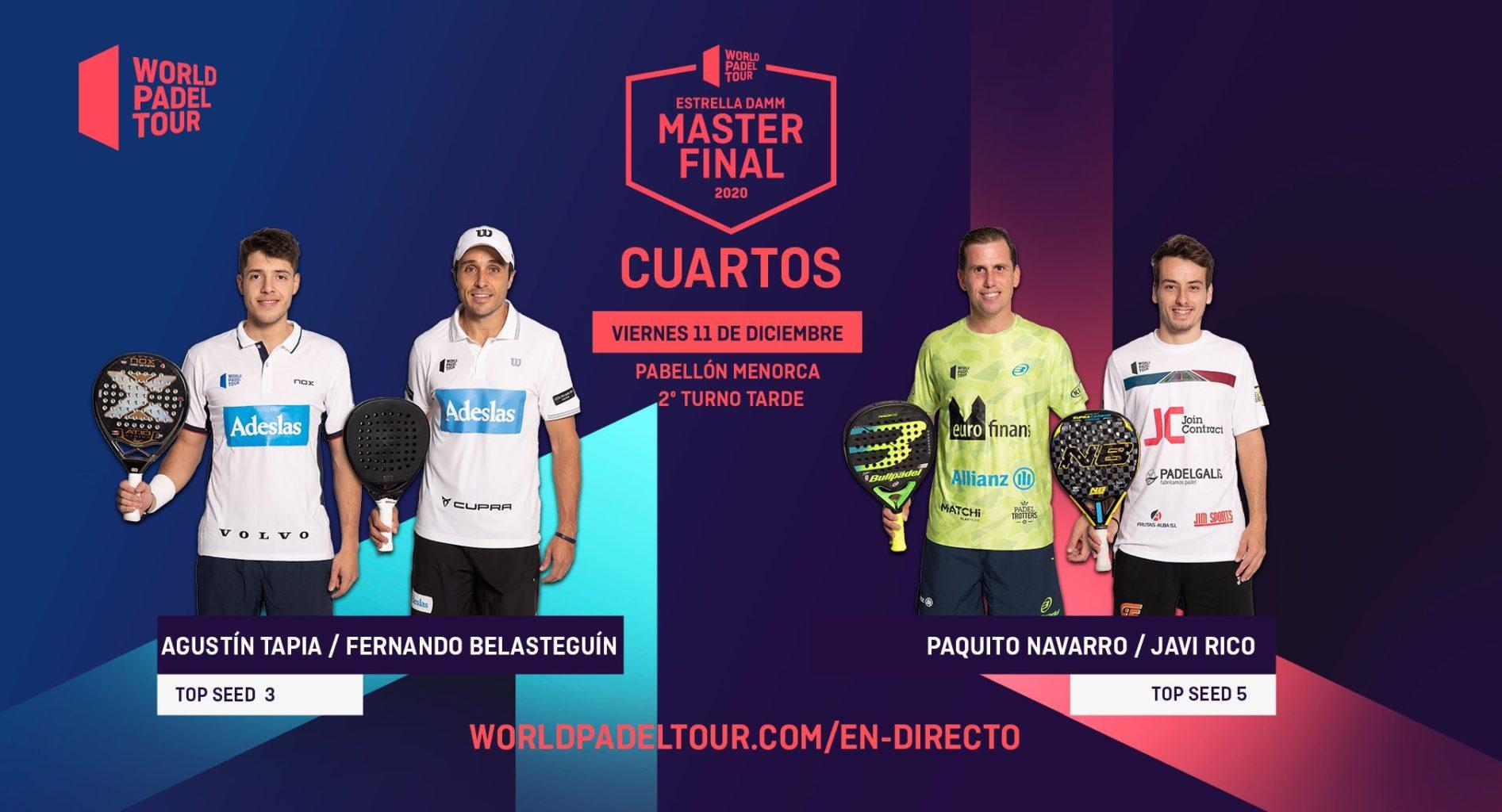 En directo la jornada de tarde del viernes de los cuartos de final del Estrella Damm Menorca Master Final 2020