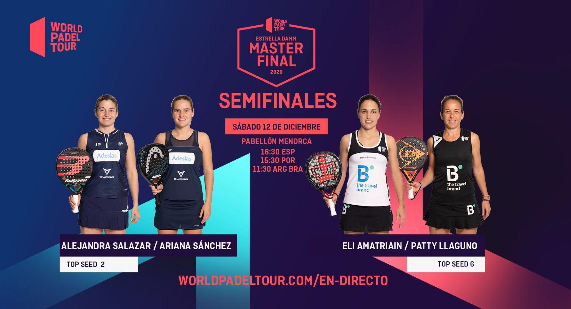 En directo las semifinales del turno de tarde del Estrella Damm Menorca Master Final 2020