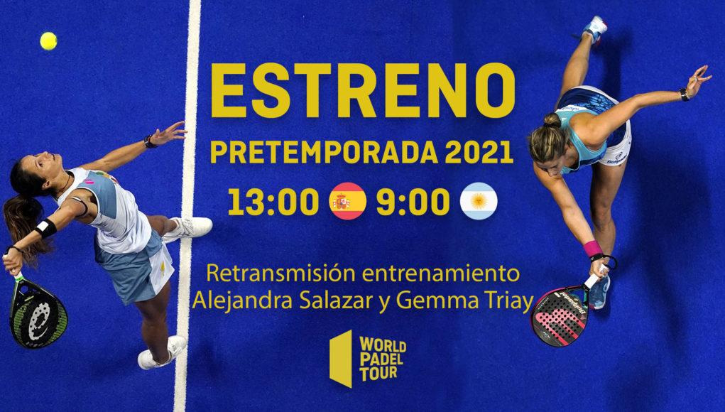 En directo el entrenamiento de Alejandra Salazar y Gemma Triay