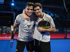 Alejandro Galán y Juan Lebrón pasan por los micrófonos de World Padel Tour